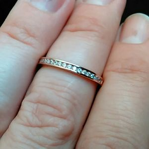 FREE w/ purchase real rose gold over sterling ring